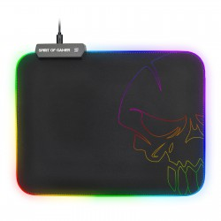Spirit of Gamer Skull RGB Gaming Mouse Pad M