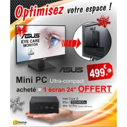 PACK ASUS Mini PC PN60-BB3004MD + ECRAN 24'' V24HE