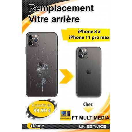CHANGEMENT DOS ARRIERE IPHONE