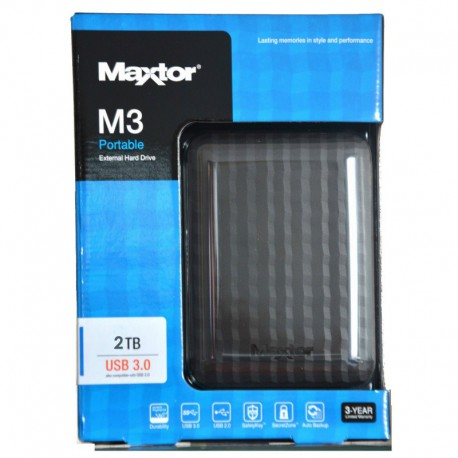 """Disque Dur Externe MAXTOR M3 2,5"""" 2To USB 3.0"""